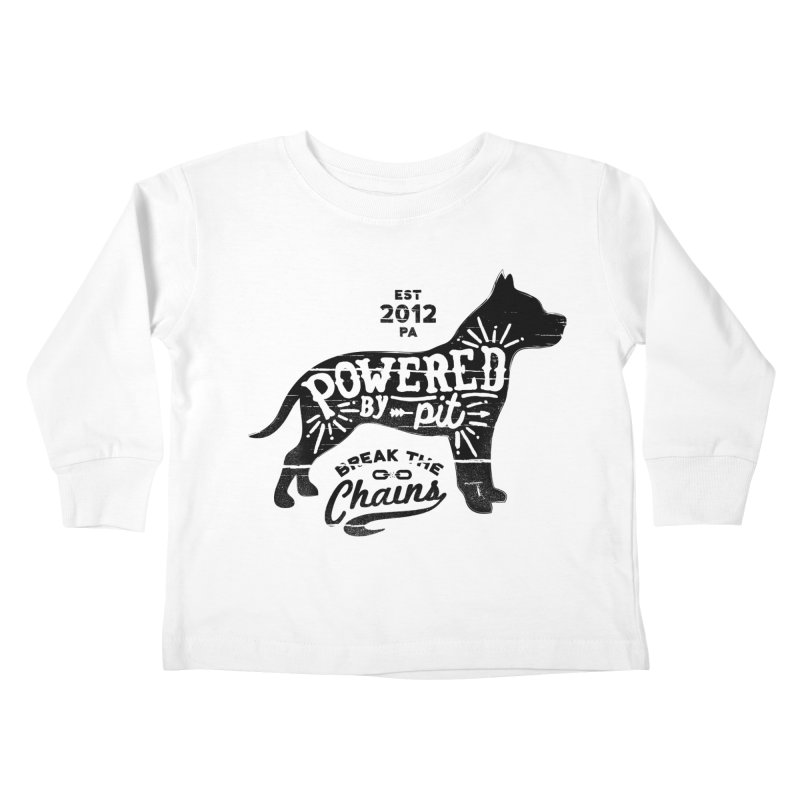 Powered By Pit Grit Kids Toddler Longsleeve T-Shirt by Pittie Chicks