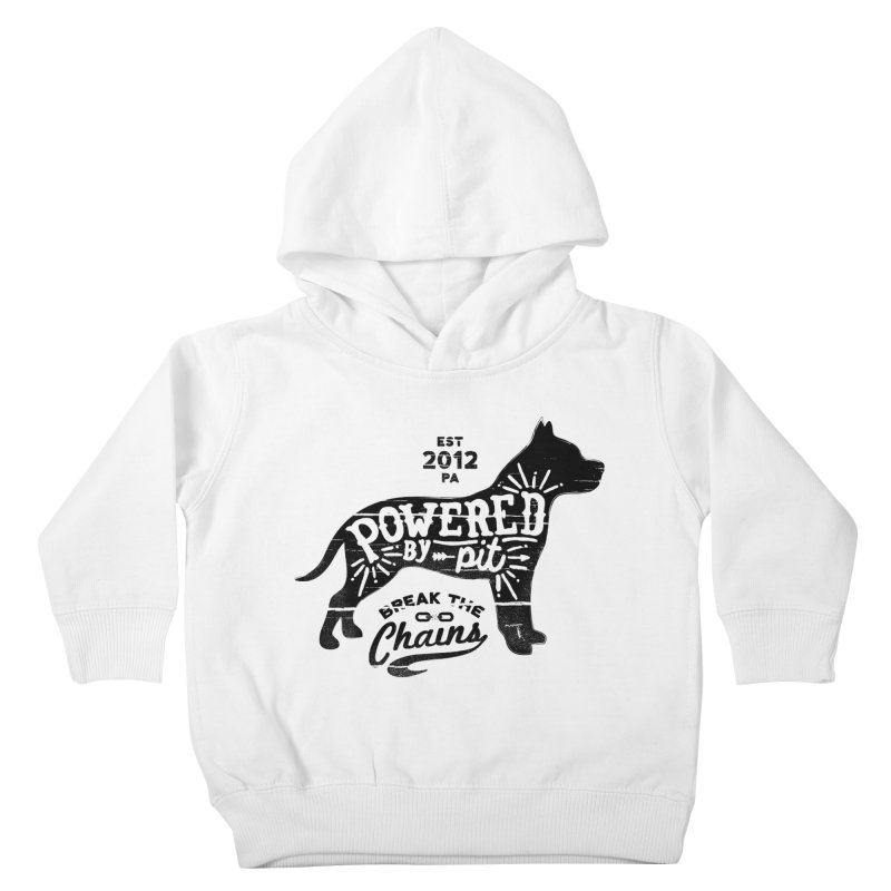 Powered By Pit Grit Kids Toddler Pullover Hoody by Pittie Chicks