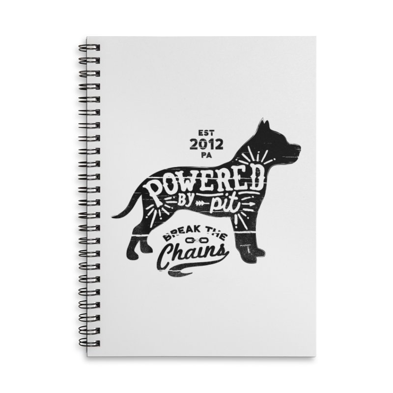 Powered By Pit Grit Accessories Lined Spiral Notebook by Pittie Chicks