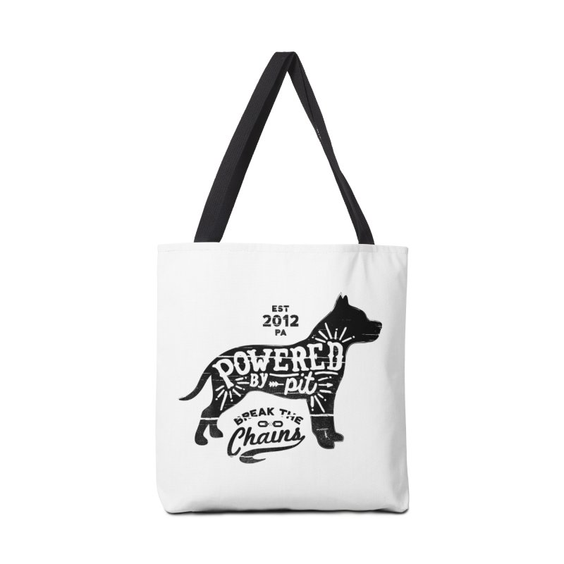 Powered By Pit Grit Accessories Tote Bag Bag by Pittie Chicks