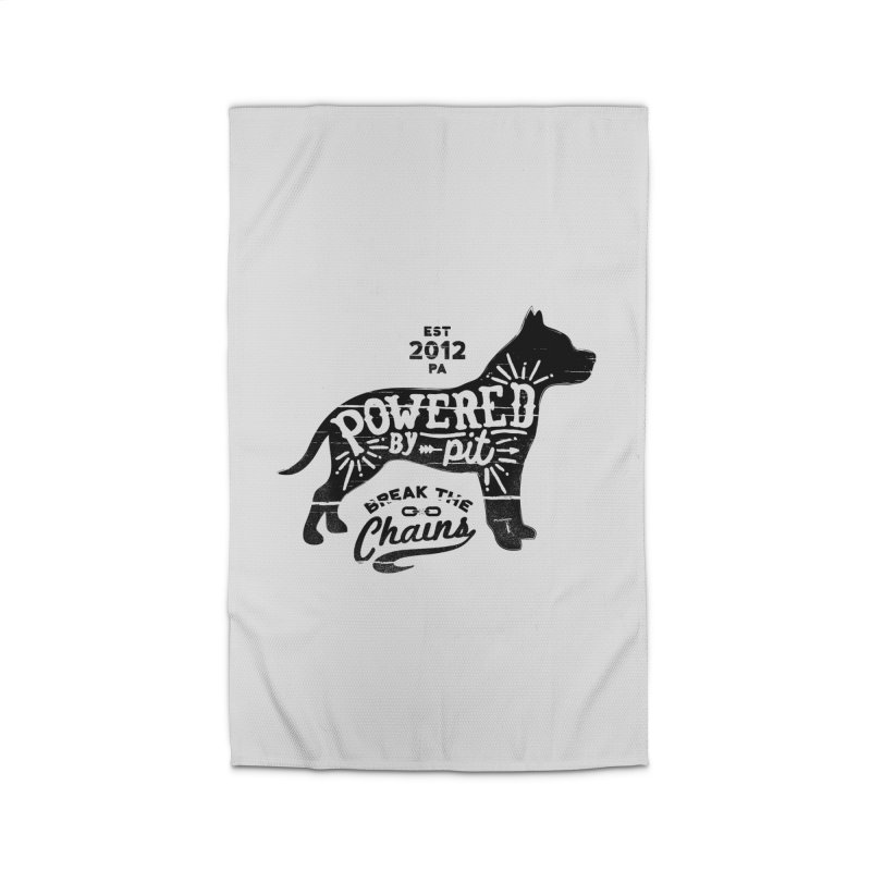 Powered By Pit Grit Home Rug by Pittie Chicks