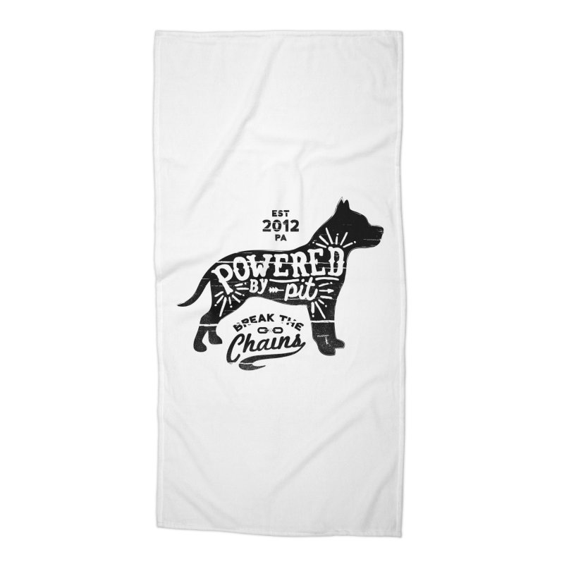 Powered By Pit Grit Accessories Beach Towel by Pittie Chicks