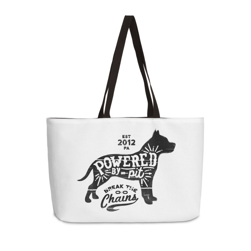 Powered By Pit Grit Accessories Weekender Bag Bag by Pittie Chicks