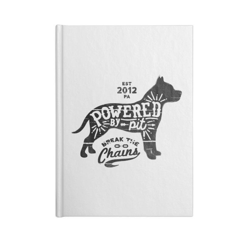 Powered By Pit Grit Accessories Notebook by Pittie Chicks