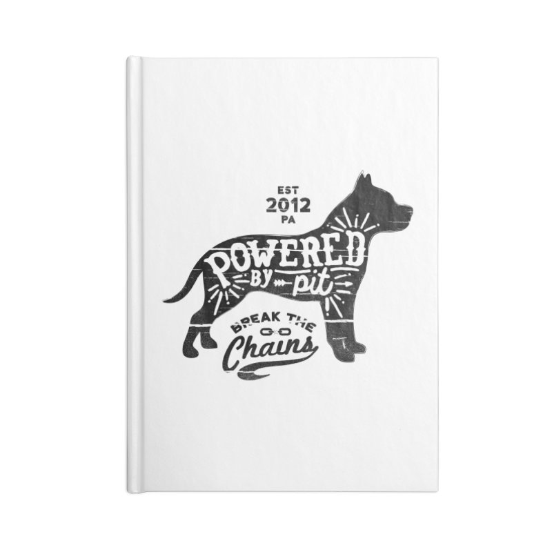 Powered By Pit Grit Accessories Lined Journal Notebook by Pittie Chicks