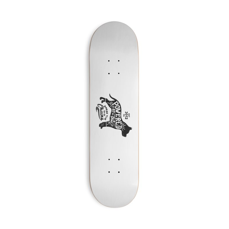 Powered By Pit Grit Accessories Skateboard by Pittie Chicks