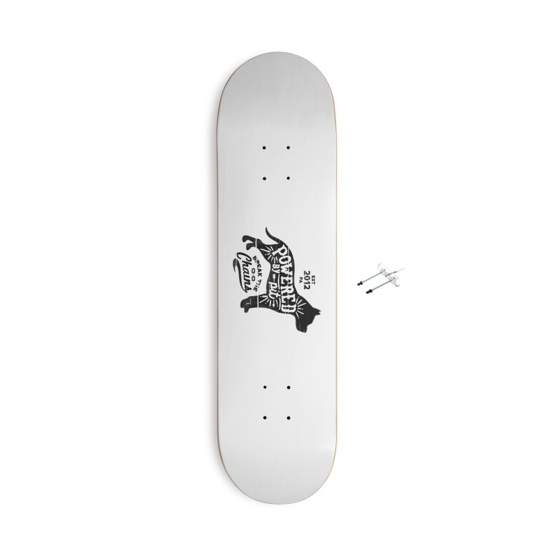 Powered By Pit Grit Accessories With Hanging Hardware Skateboard by Pittie Chicks