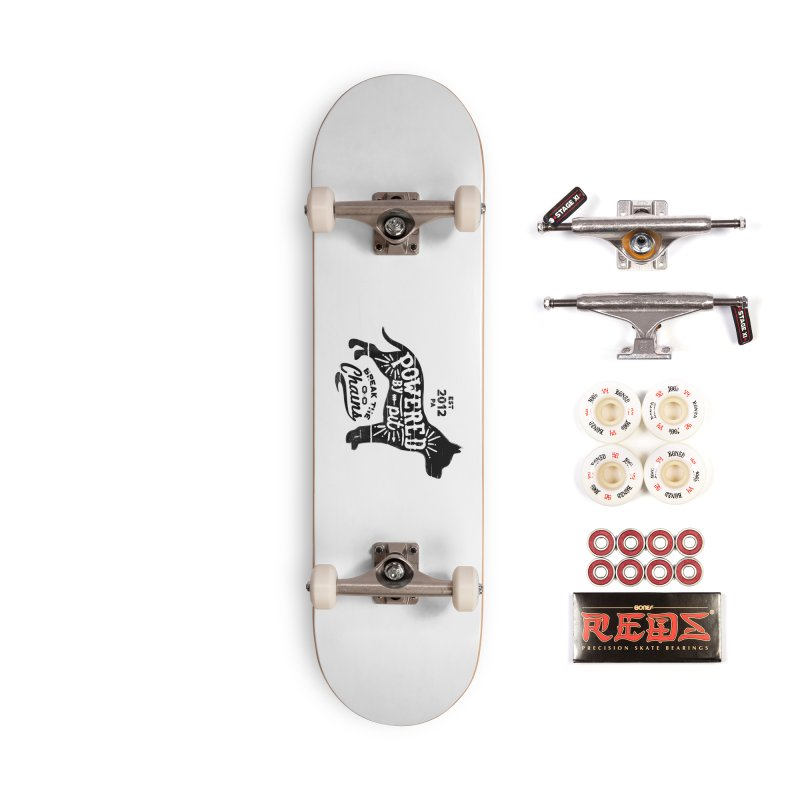 Powered By Pit Grit Accessories Complete - Pro Skateboard by Pittie Chicks