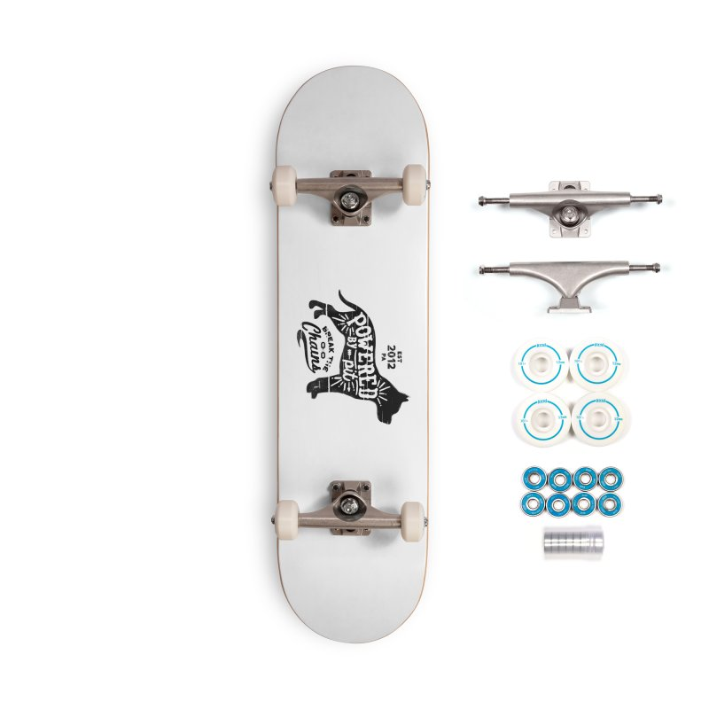 Powered By Pit Grit Accessories Complete - Basic Skateboard by Pittie Chicks