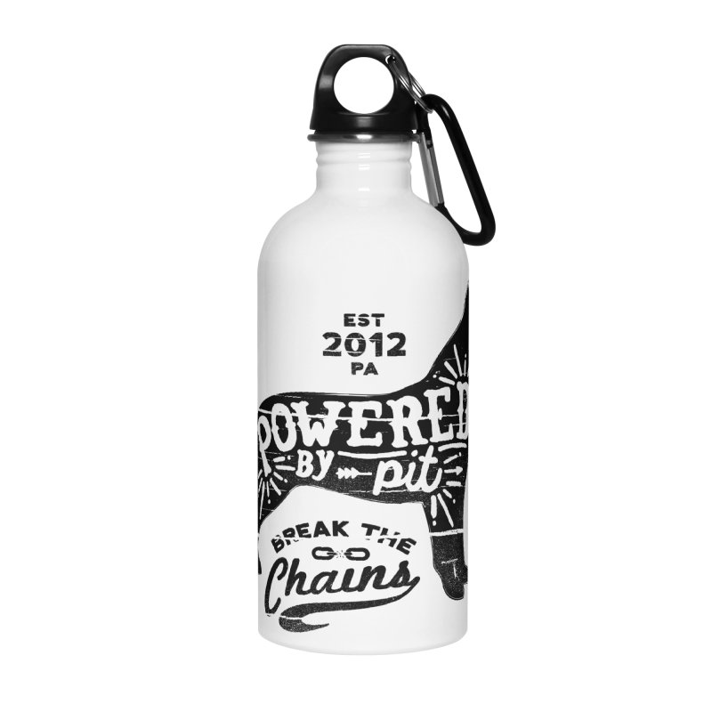 Powered By Pit Grit Accessories Water Bottle by Pittie Chicks