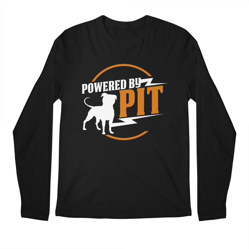 Powered by Pit Bolt Men's Regular Longsleeve T-Shirt by Pittie Chicks