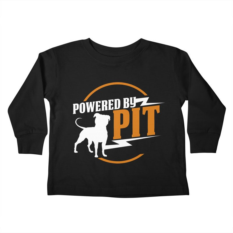 Powered by Pit Bolt Kids Toddler Longsleeve T-Shirt by Pittie Chicks