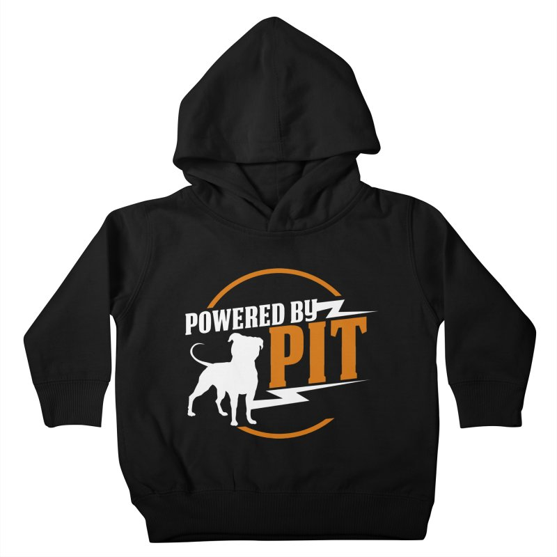 Powered by Pit Bolt Kids Toddler Pullover Hoody by Pittie Chicks