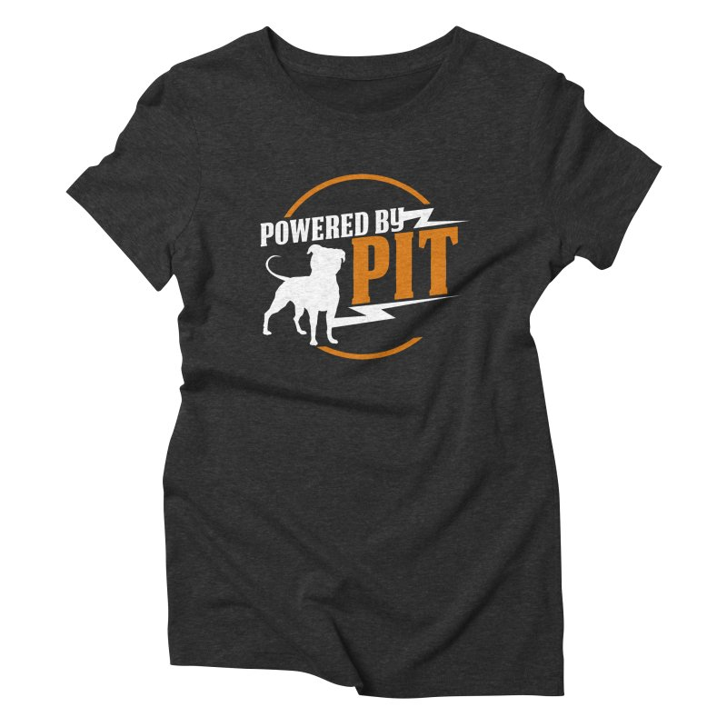Powered by Pit Bolt Women's Triblend T-shirt by Pittie Chicks