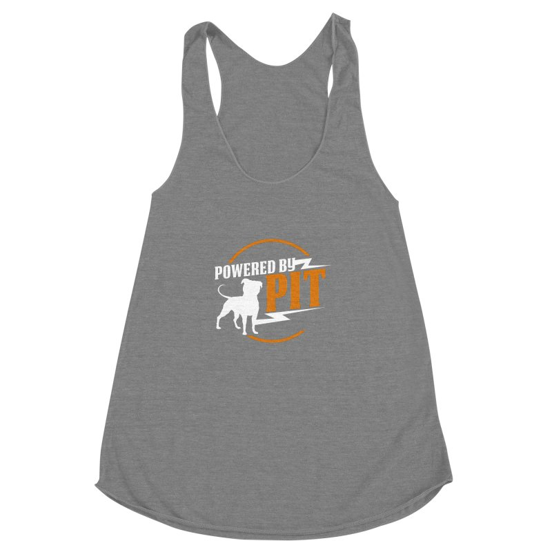 Powered by Pit Bolt Women's Racerback Triblend Tank by Pittie Chicks