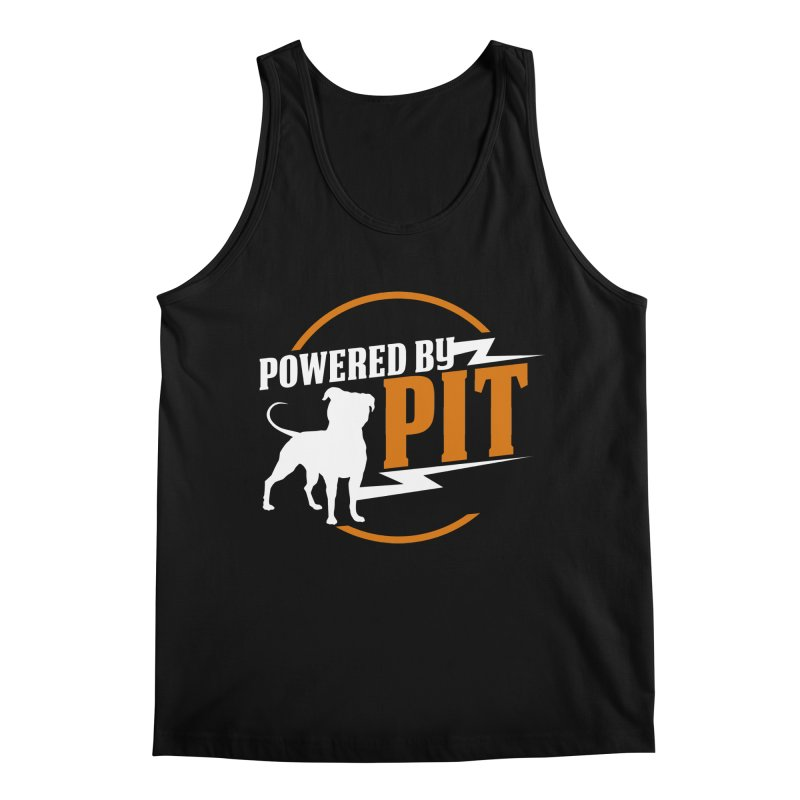 Powered by Pit Bolt Men's Regular Tank by Pittie Chicks