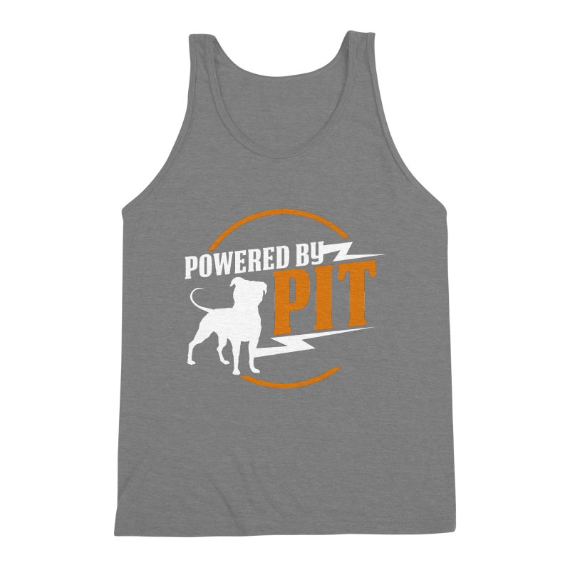 Powered by Pit Bolt Men's Triblend Tank by Pittie Chicks