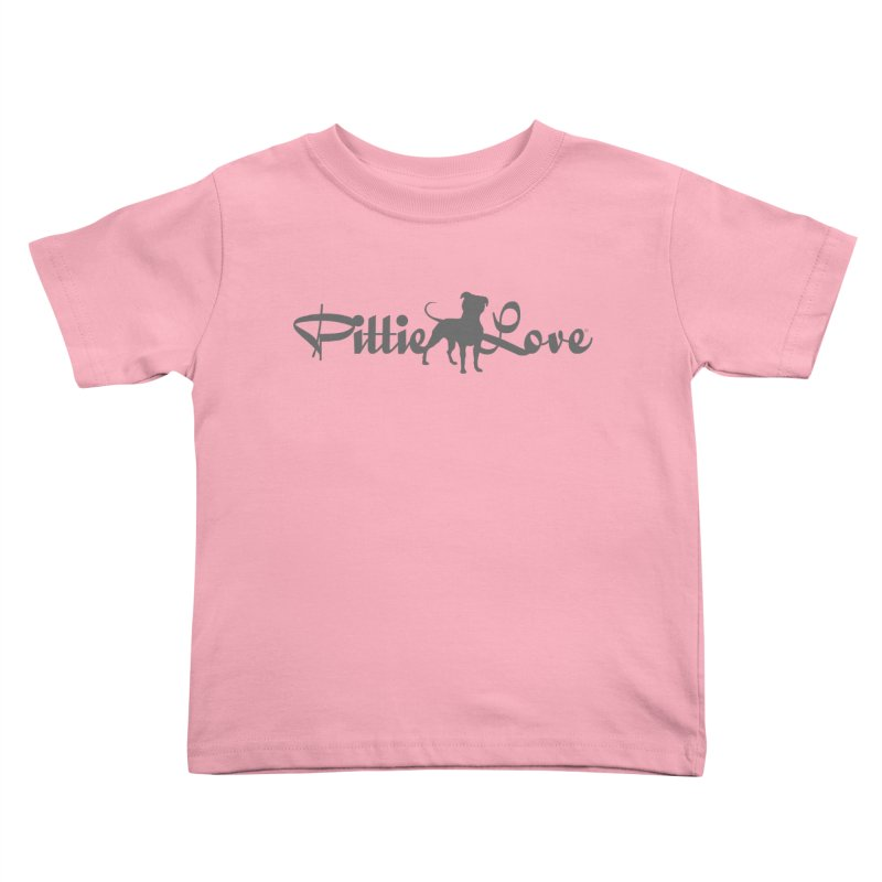 Pittie Love Kids Toddler T-Shirt by Pittie Chicks