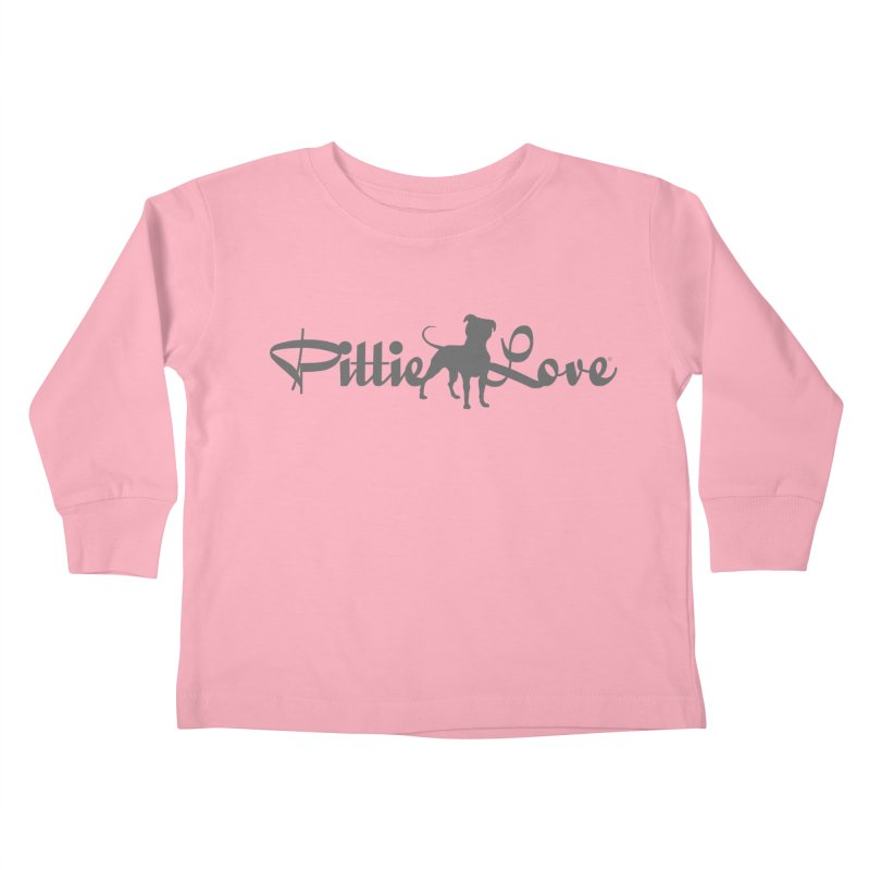Pittie Love Kids Toddler Longsleeve T-Shirt by Pittie Chicks