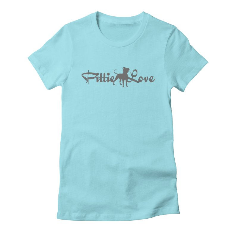 Pittie Love Women's Fitted T-Shirt by Pittie Chicks