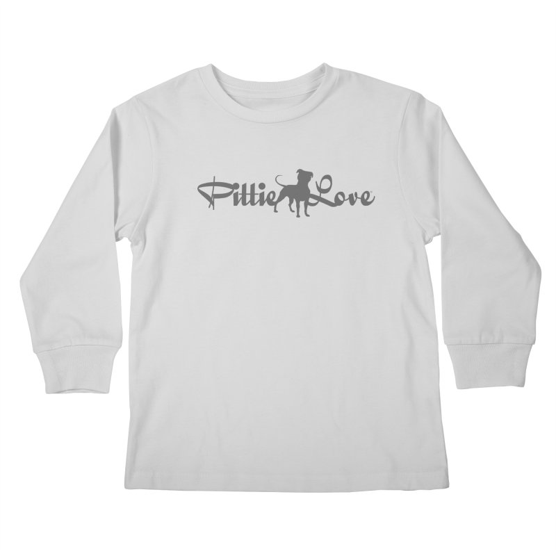 Pittie Love Kids Longsleeve T-Shirt by Pittie Chicks