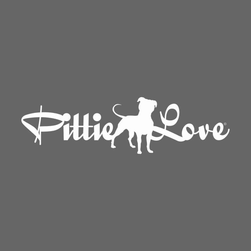 Pittie Love White Women's V-Neck by Pittie Chicks