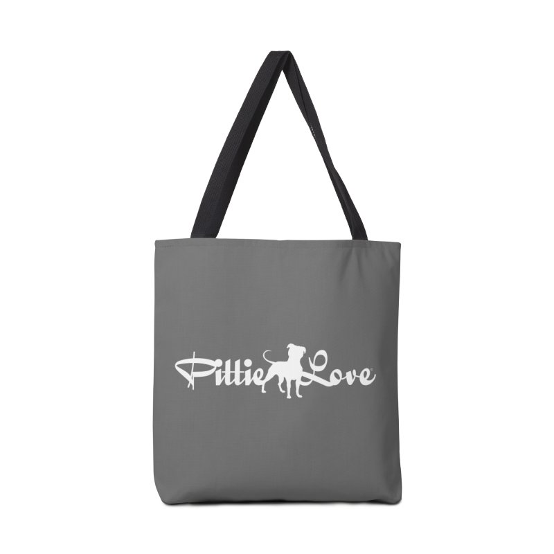 Pittie Love White Accessories Tote Bag Bag by Pittie Chicks
