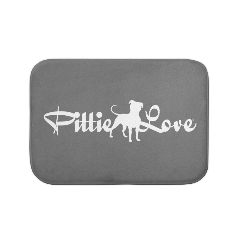 Pittie Love White Home Bath Mat by Pittie Chicks
