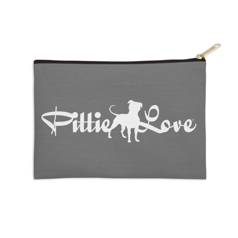 Pittie Love White Accessories Zip Pouch by Pittie Chicks
