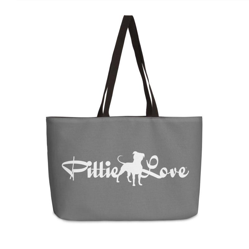 Pittie Love White Accessories Weekender Bag Bag by Pittie Chicks