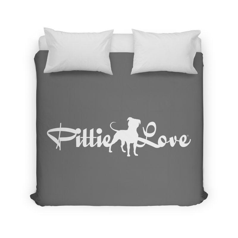 Pittie Love White Home Duvet by Pittie Chicks