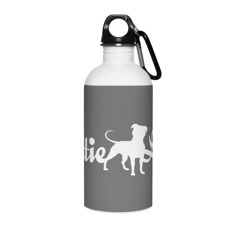 Pittie Love White Accessories Water Bottle by Pittie Chicks