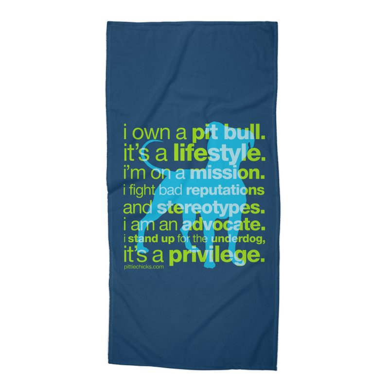 Pit Bull Advocate Accessories Beach Towel by Pittie Chicks