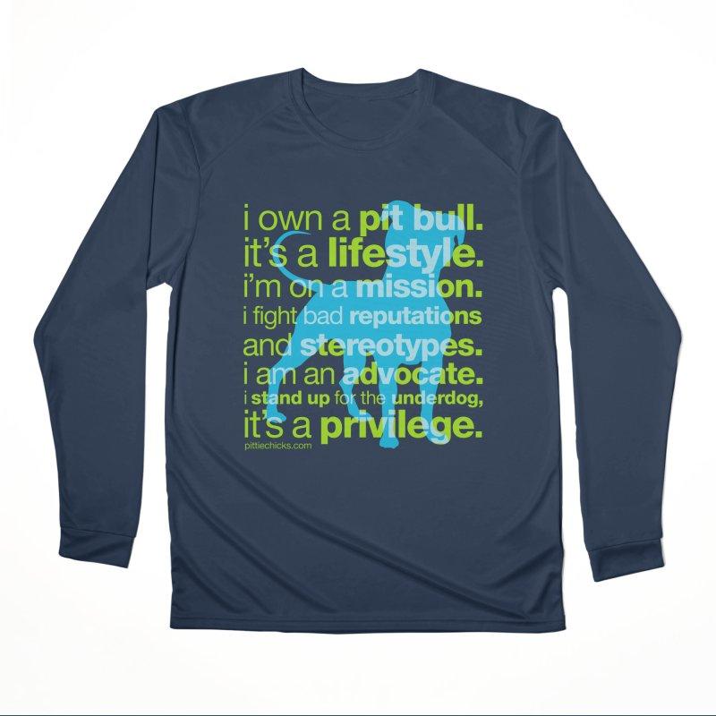 Pit Bull Advocate Women's Performance Unisex Longsleeve T-Shirt by Pittie Chicks