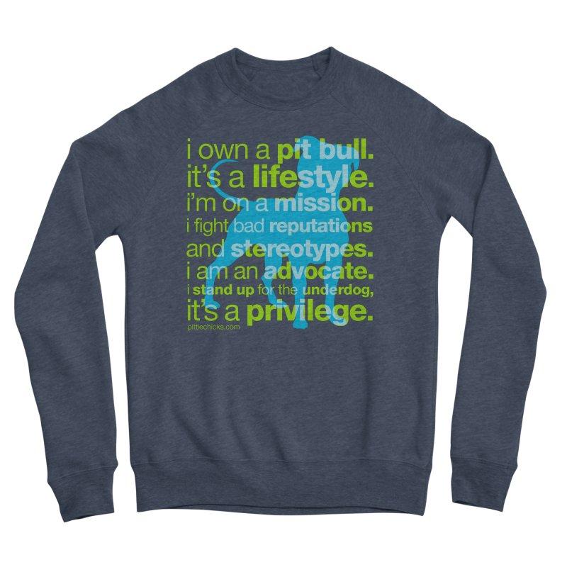 Pit Bull Advocate Women's Sponge Fleece Sweatshirt by Pittie Chicks