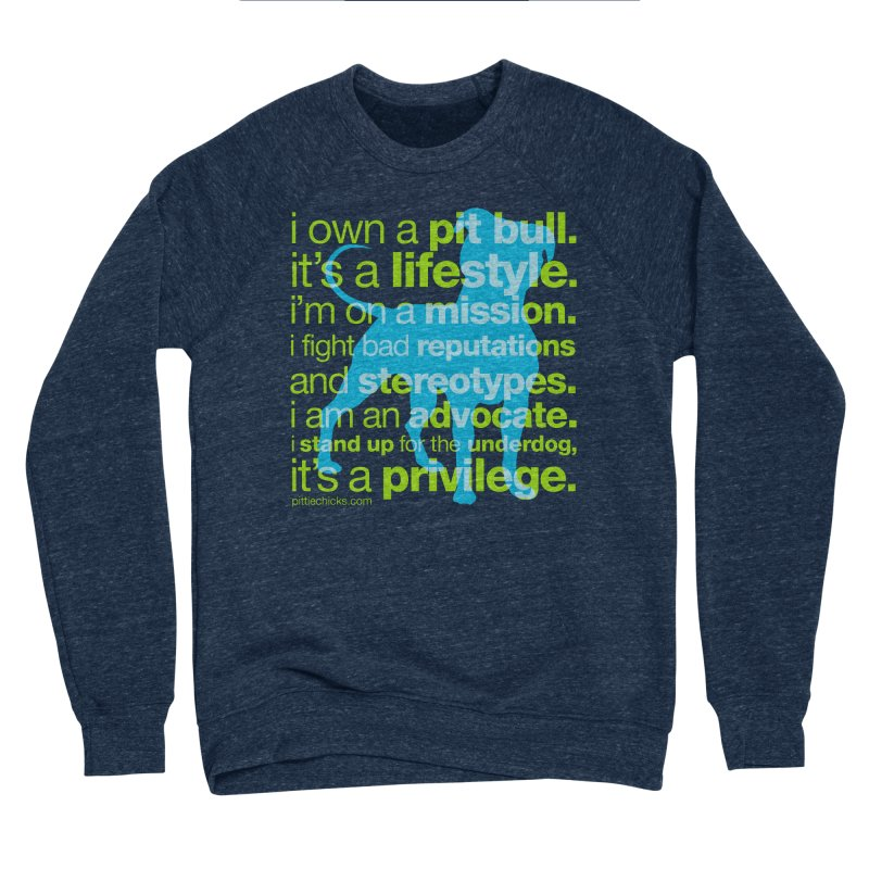 Pit Bull Advocate Women's Sponge Fleece Sweatshirt by Pittie Chicks