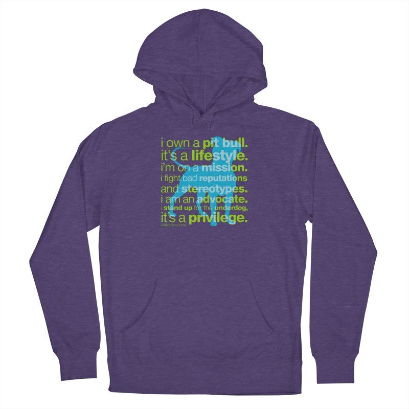 Pit Bull Advocate Women's Pullover Hoody by Pittie Chicks