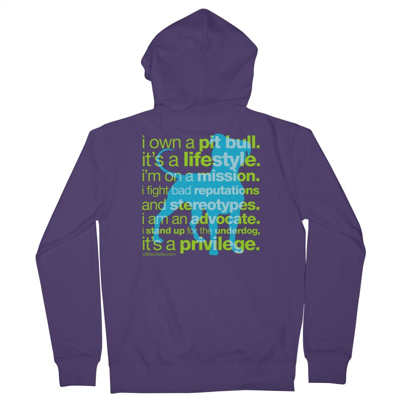 Pit Bull Advocate Women's French Terry Zip-Up Hoody by Pittie Chicks