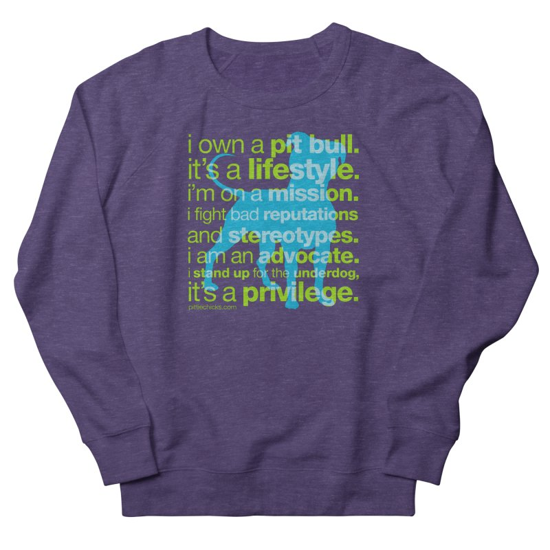 Pit Bull Advocate Men's French Terry Sweatshirt by Pittie Chicks