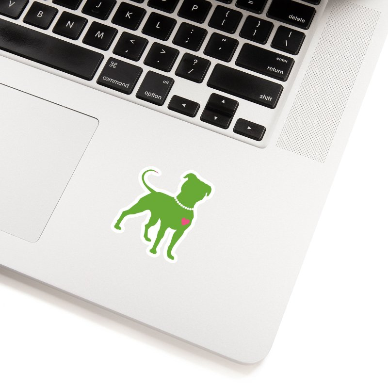 Pit In Pearls Stickers - The Original in White Sticker by Pittie Chicks