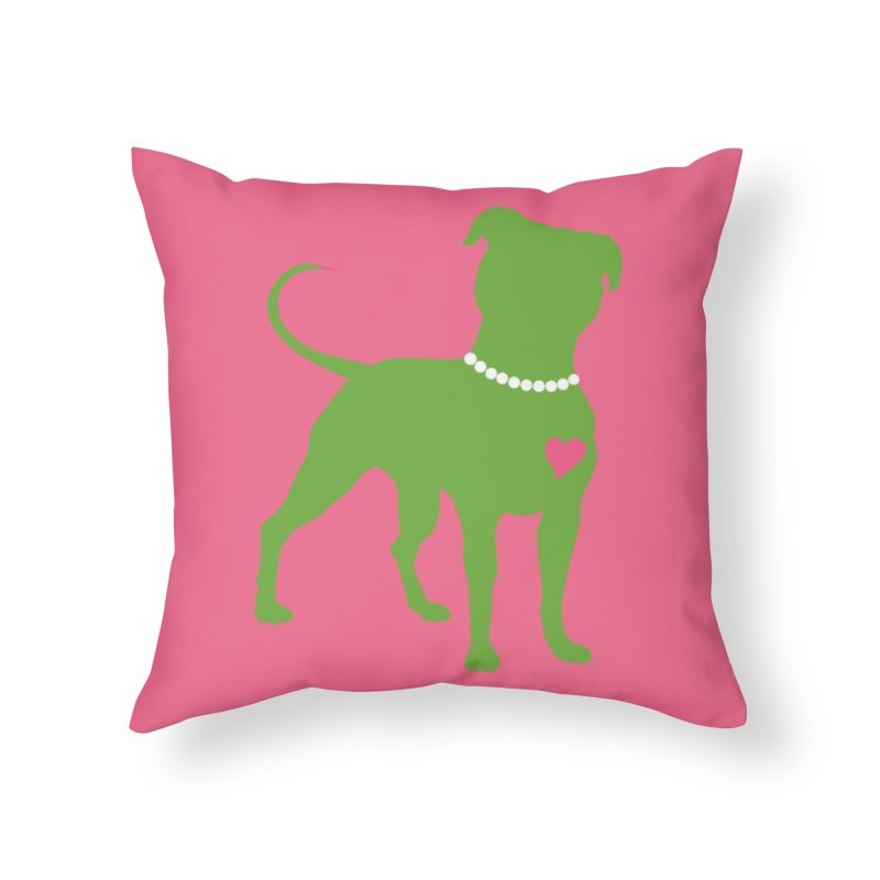 Pit In Pearls Stickers - The Original Home Throw Pillow by Pittie Chicks