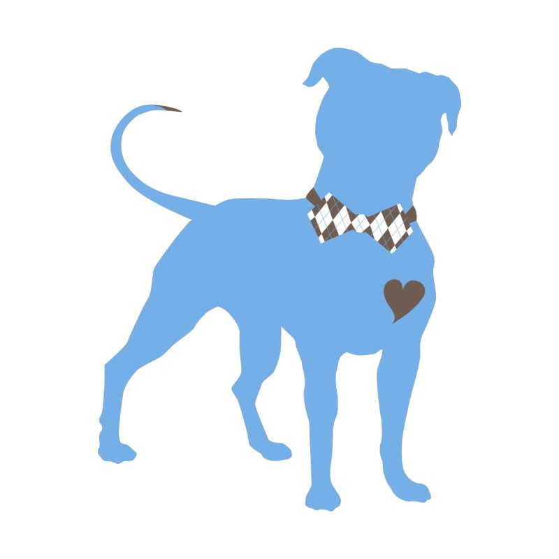 Bow Tie Pit Bull Stickers _ The Original by Pittie Chicks