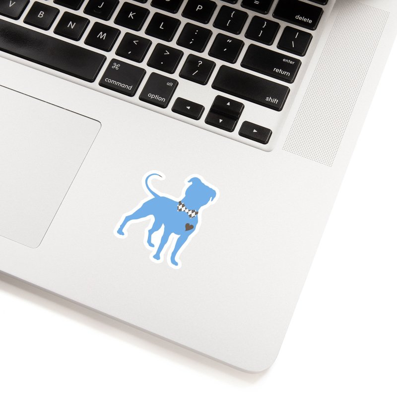 Bow Tie Pit Bull Stickers _ The Original in White Sticker by Pittie Chicks
