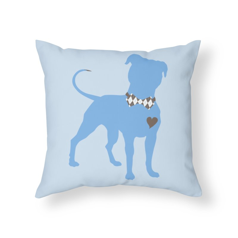 Bow Tie Pit Bull Stickers _ The Original Home Throw Pillow by Pittie Chicks