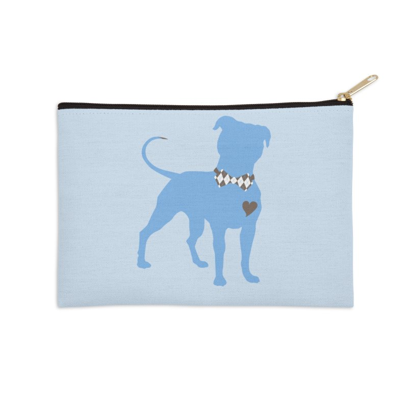 Bow Tie Pit Bull Stickers _ The Original Accessories Zip Pouch by Pittie Chicks