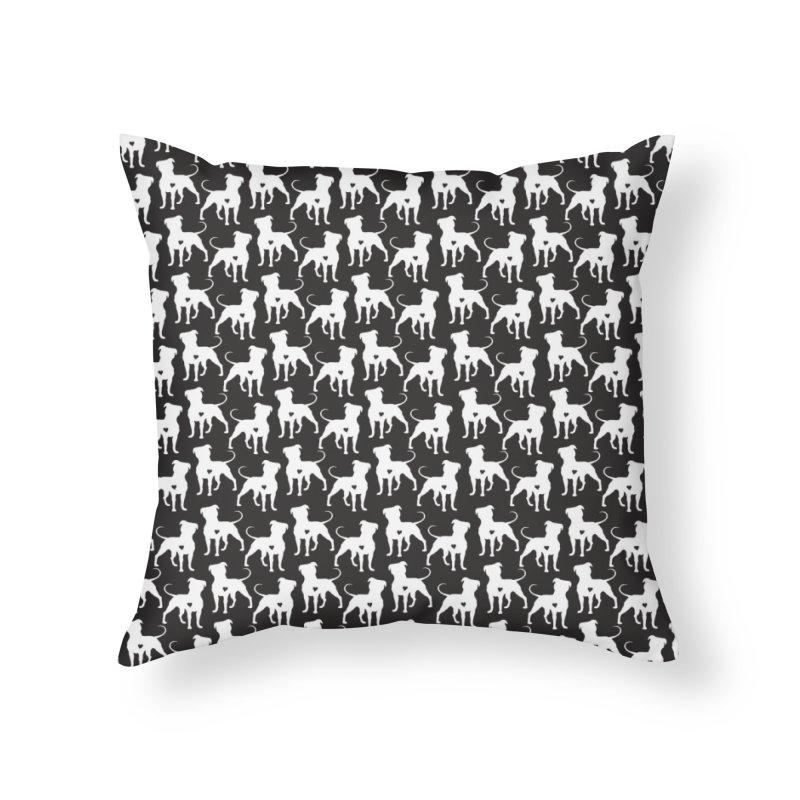 Pittie Love Leggings Noir Home Throw Pillow by Pittie Chicks
