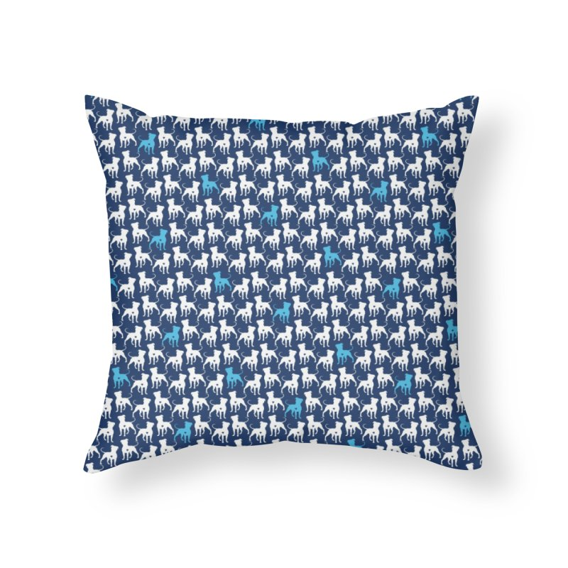 Pittie Love Snow Day Leggings Home Throw Pillow by Pittie Chicks