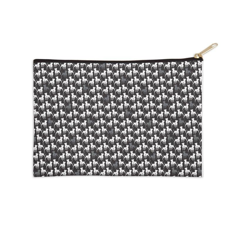 Pittie Love Noir Accessories Zip Pouch by Pittie Chicks
