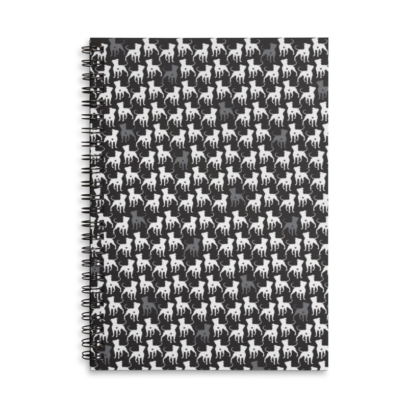 Pittie Love Noir Accessories Lined Spiral Notebook by Pittie Chicks