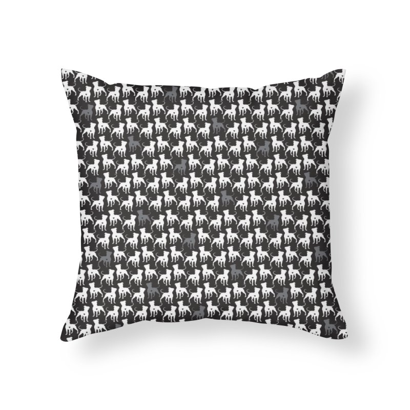 Pittie Love Noir Home Throw Pillow by Pittie Chicks